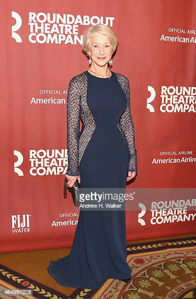 Helen Mirren attends the Roundabout Theatre Company's 2015 Spring Gala at the Grand Ballroom at The Waldorf=Astoria on March 2 2015 in New York City