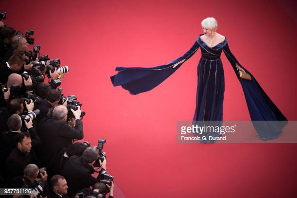 Helen Mirren attends the screening of 'Girls Of The Sun ' during the 71st annual Cannes Film Festival at Palais des Festivals on May 12 2018 in...