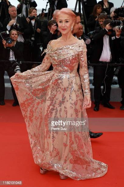 """Helen Mirren attends the screening of """"Les Plus Belles Annees D'Une Vie"""" during the 72nd annual Cannes Film Festival on May 18, 2019 in Cannes,..."""