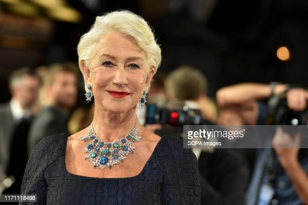 Helen Mirren attends the Sky Atlantics UK Premiere of Catherine The Great at the Curzon Mayfair in London