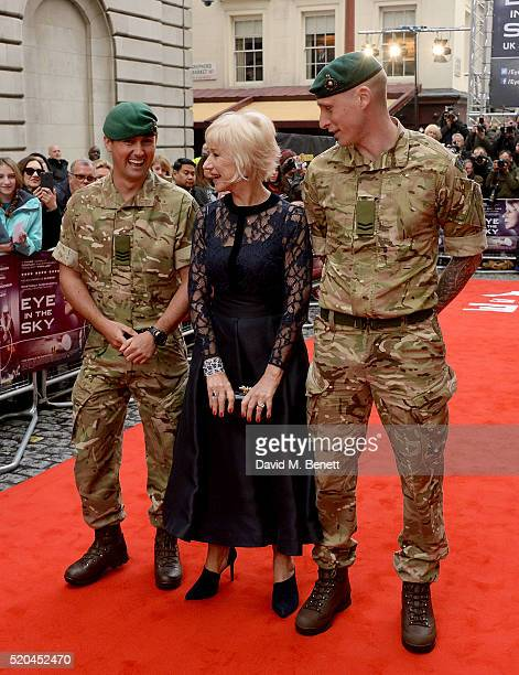 Helen Mirren attends the UK premiere of Eye In The Sky at The Curzon Mayfair on April 11, 2016 in London, England.