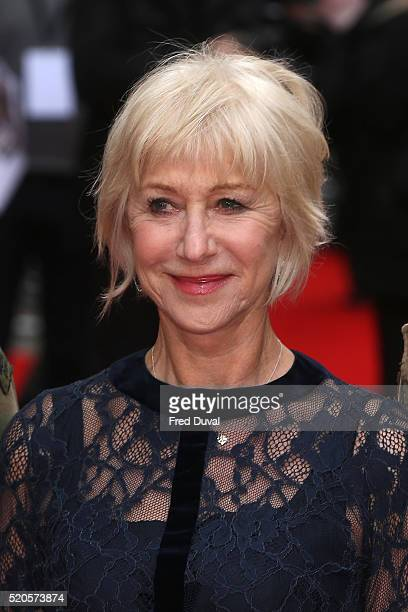 """Helen Mirren attends the UK Premiere of 'Eye In The Sky"""" at The Curzon Mayfair on April 11, 2016 in London, England."""