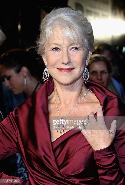 Helen Mirren attends the UK premiere of The Debt at The Curzon Mayfair on September 21 2011 in London England