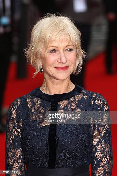 """Helen Mirren attends the UK Premiere of the """"Eye In The sky """" at The Curzon Mayfair on April 11, 2016 in London, England."""