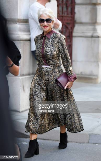 Helen Mirren attends the Victoria Beckham show during London Fashion Week September 2019 at the Foreign Office on September 15 2019 in London England