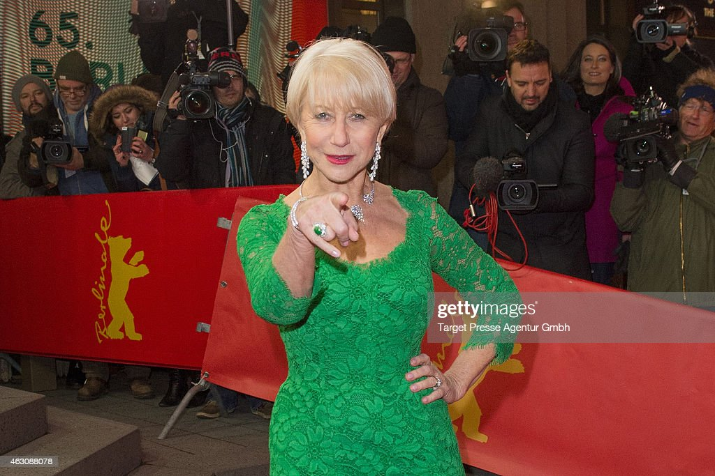 Helen Mirren attends the 'Woman in Gold' premiere during the 65th Berlinale International Film Festival at Friedrichstadt-Palast on February 9, 2015 in Berlin, Germany.