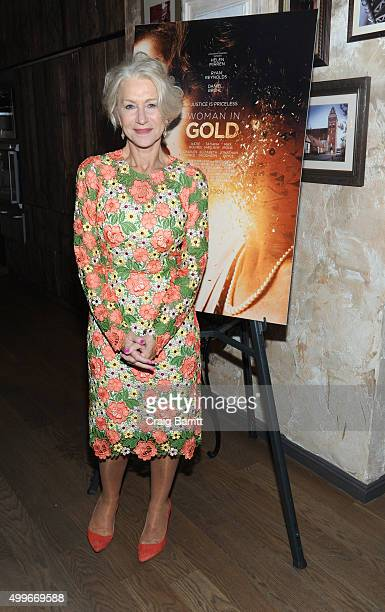 Helen Mirren attends the Women In Gold cocktail reception at Elyx House New York on December 2 2015 in New York City