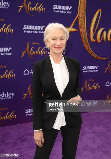 Helen Mirren attends the World Premiere of Disney's Aladdin at the El Capitan Theater in Hollywood CA on May 21 in the culmination of the film's...