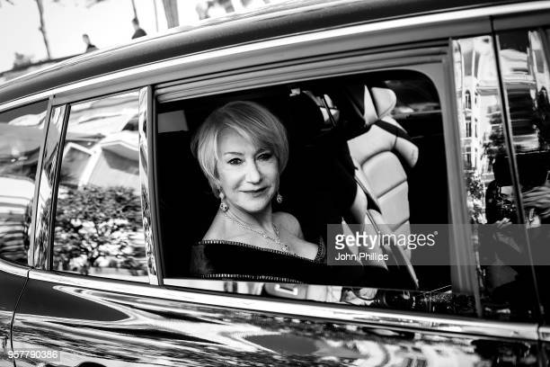 Helen Mirren departs the Martinez Hotel during the 71st annual Cannes Film Festival at on May 12, 2018 in Cannes, France.