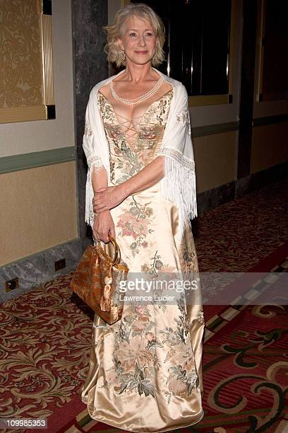 Helen Mirren during 2005 International Emmy Awards Gala Press Room at New York Hilton in New York City New York United States