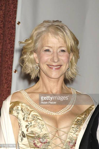 Helen Mirren during 2005 International Emmy Awards Gala Press Room at New York Hilton in New York City New York United States