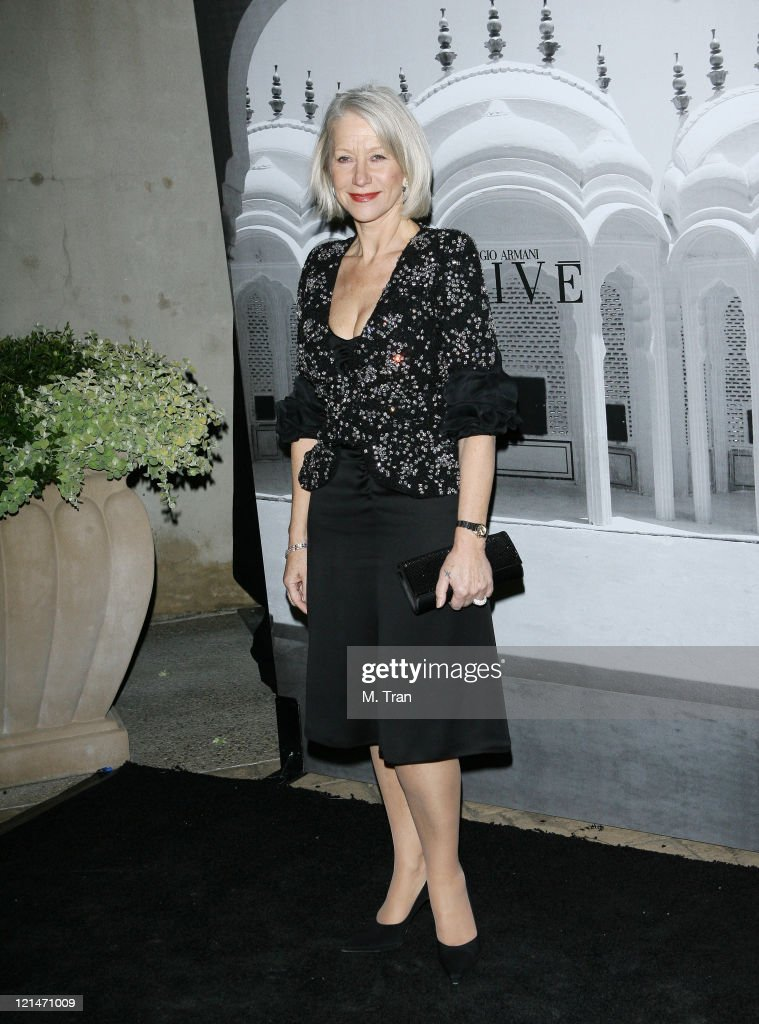 Helen Mirren during Giorgio Armani Celebrates 2007 Oscars with Exclusive Prive Show at Green Acres Estates in Beverly Hills, California, United States.