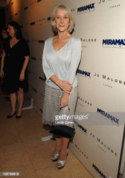 Helen Mirren during Miramax Films and British Fragrance House Jo Malone Join to Celebrate 2007 OscarNominated Films The Queen and Venus at Sunset...