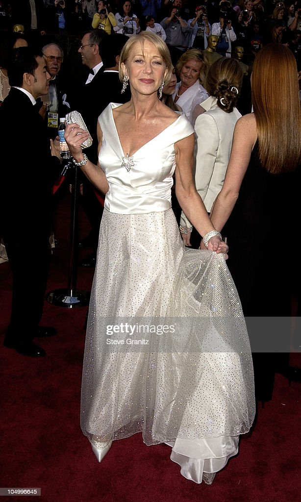 Helen Mirren during The 74th Annual Academy Awards - Arrivals at Kodak Theater in Hollywood, California, United States.