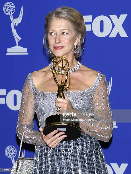 Helen Mirren Emmy Award for Outstanding Lead Actress in a Miniseries or a Movie 'Passion of Ayn Rand' 1999 Emmy Awards Los Angeles CA 9/13/99