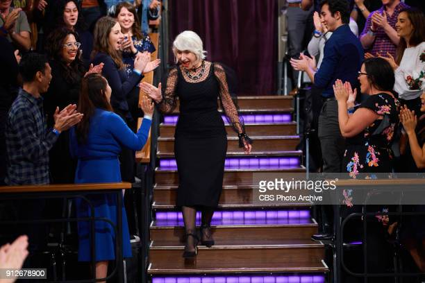 Helen Mirren greets the audience during 'The Late Late Show with James Corden' Tuesday January 30 2018 On The CBS Television Network