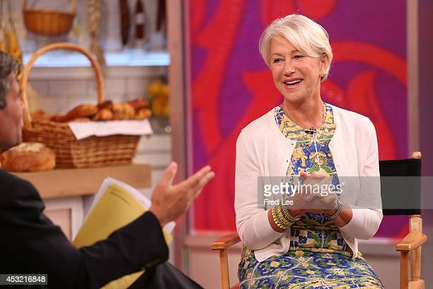 AMERICA Helen Mirren is a guest on Good Morning America 8/4/14 airing on the Walt Disney Television via Getty Images Television Network GEORGE