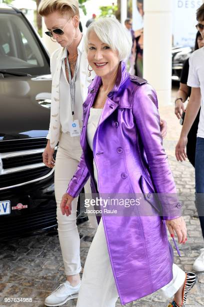 Helen Mirren is seen arriving at Hotel Martinez during the 71st annual Cannes Film Festival at on May 12 2018 in Cannes France