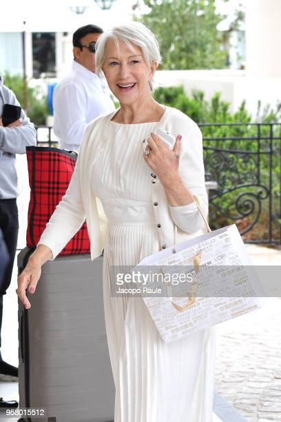 Helen Mirren is seen arriving at Hotel Martinez during the 71st annual Cannes Film Festival at on May 13 2018 in Cannes France