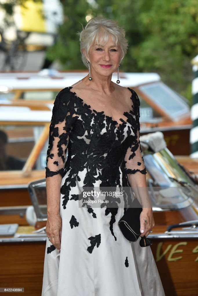 Helen Mirren is seen during the 74. Venice Film Festival on September 3, 2017 in Venice, Italy.
