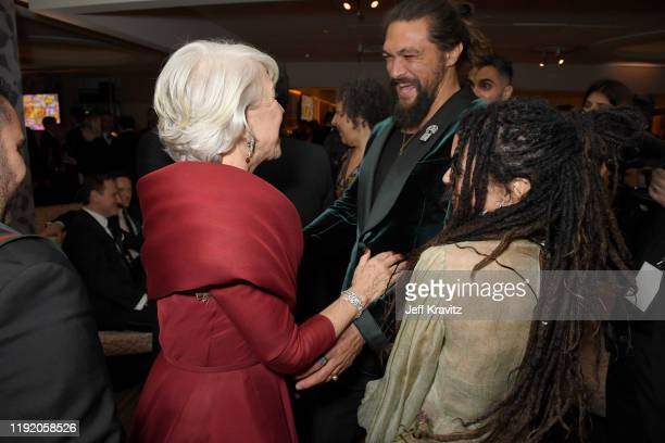 Helen Mirren Jason Momoa and Lisa Bonet at HBO's Official 2020 Golden Globe Awards After Party on January 05 2020 in Los Angeles California