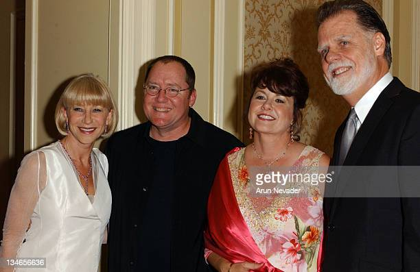 Helen Mirren John Lasseter with wife Nancy and Taylor Hackford