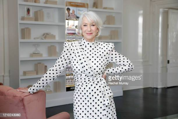 Helen Mirren joins L'Oréal Paris to celebrate the launch of Age Perfect Cosmetics on March 03, 2020 in Beverly Hills, California.