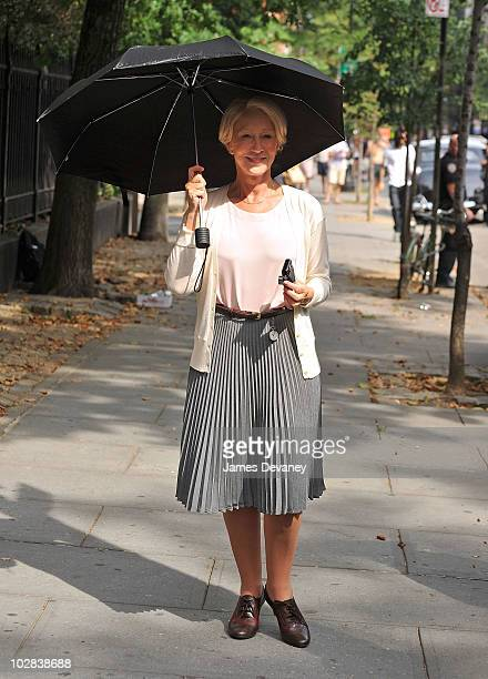 Helen Mirren on location for Arthur on the streets of Manhattan on July 12 2010 in New York City