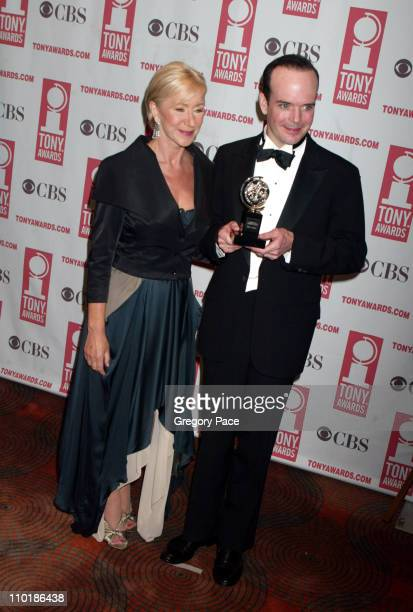 "Helen Mirren, presenter with Jefferson Mays, winner Best Leading Actor in a Play for ""I am My Own Wife"""