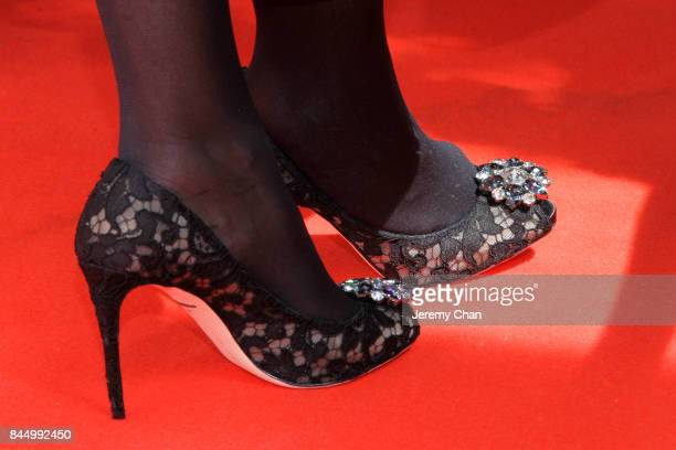 """Helen Mirren, shoe detail, attends """"The Leisure Seeker"""" premiere during the 2017 Toronto International Film Festival at Roy Thomson Hall on September..."""