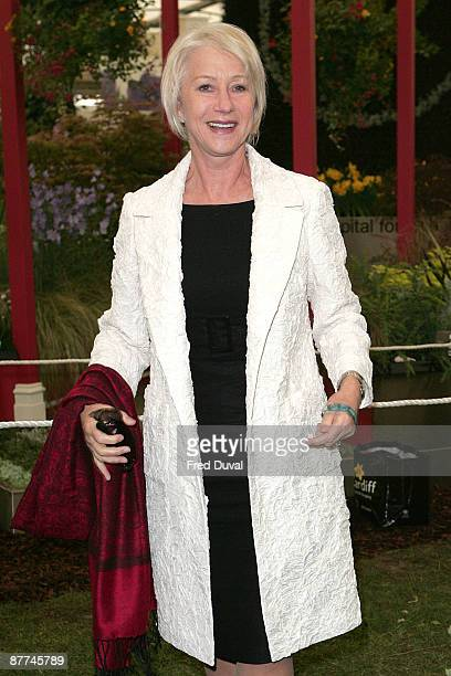 Helen Mirren visits the Chelsea Flower Show at Royal Hospital Chelsea on May 18 2009 in London England