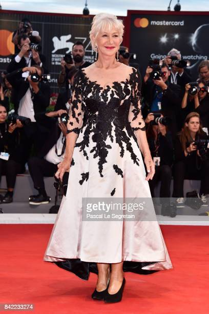 Helen Mirren walks the red carpet ahead of the 'The Leisure Seeker ' screening during the 74th Venice Film Festival at Sala Grande on September 3...