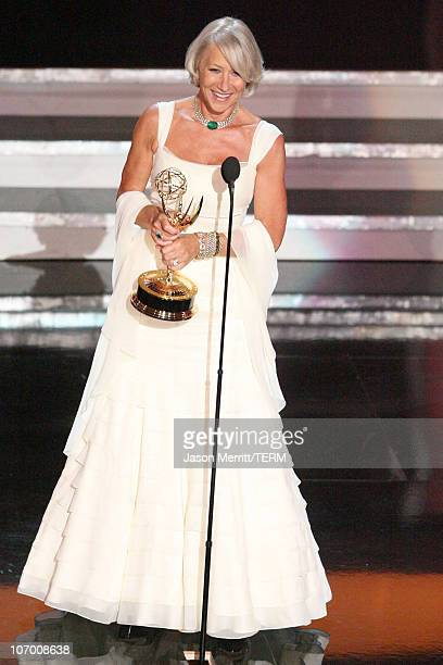 "Helen Mirren, winner Outstanding Lead Actress in a Miniseries or a Movie for ""Elizabeth I"""
