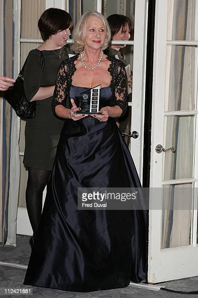 Helen Mirren won British Actress of the Year for The Queen
