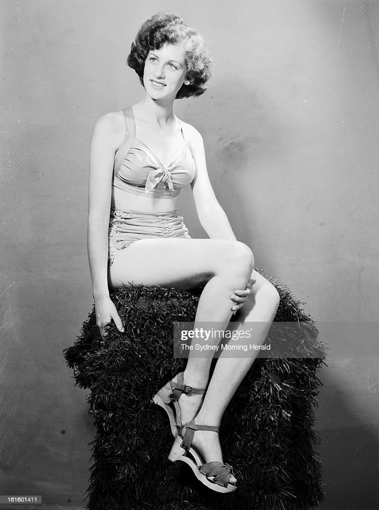 Helen Moody, Miss South Australia, is photographed in Sydney for the Miss Australia Quest, December 22, 1945.