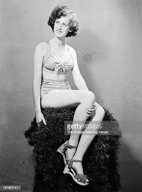 Helen Moody Miss South Australia is photographed in Sydney for the Miss Australia Quest December 22 1945