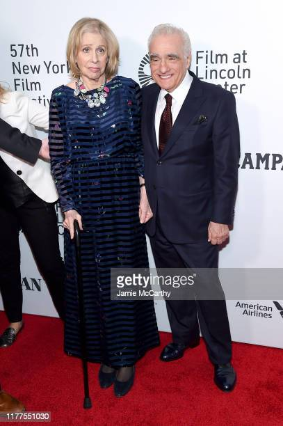 Helen Morris and Martin Scorsese attend The Irishman screening during the 57th New York Film Festival at Alice Tully Hall Lincoln Center on September...