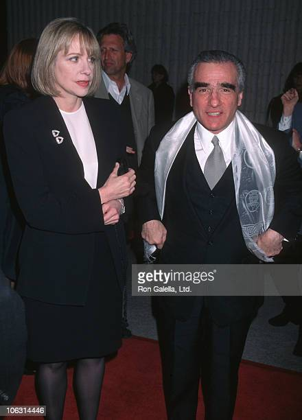 Helen Morris and Martin Scorsese during 'Kundun' Los Angeles Premiere in Westwood California United States