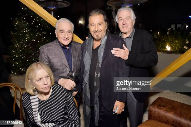 Helen Morris Martin Scorsese Al Pacino and Robert De Niro attend Celebrate the Season Ted's Holiday Toast at Private Residence on November 15 2019 in...