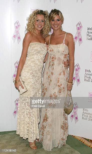 Helen Noble and Sarah Dunn during 10th Anniversary Pink Ribbon Ball in Aid of the Breast Cancer Campaign at Dorchester Hotel in London in London...