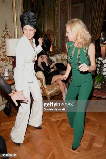 Helen Nonini and Princess Camilla Duchess of Castro attend the Pomellato after party for the new campaign launch with Chiara Ferragni as part of...