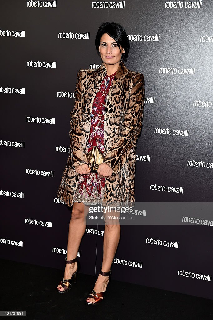 Helen Nonini attends the Roberto Cavalli show during the Milan Fashion Week Autumn/Winter 2015 on February 28, 2015 in Milan, Italy.