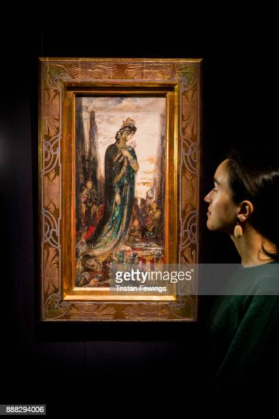 Helen of Troy by French artist Gustave Moreau goes on view as part of the19th Century European Paintings sale at Sotheby's on December 8 2017 in...