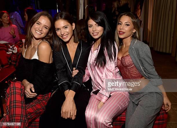 Helen Owen Alyssa Lynch Corin JamieLee and Ayla Marie attend the Victoria's Secret Celebrates The 2018 Victoria's Secret Fashion Show With A PJ Glamp...
