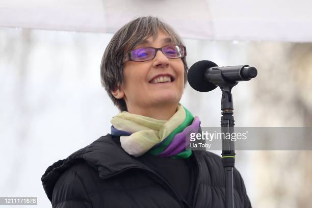 Helen Pankhurst during the #March4Women 2020 on March 08 2020 in London England The event is to mark International Women's Day