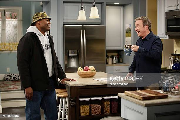 STANDING 'Helen Potts' Tim Allen reunites with Patricia Richardson who played his wife on the acclaimed series 'Home Improvement' Mike butts heads...