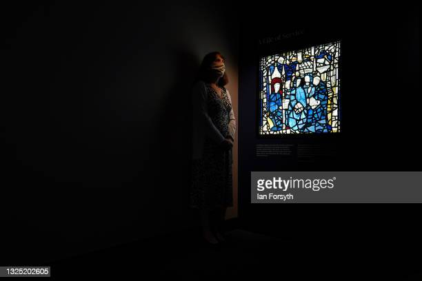 Helen Rawson, York Minster's Head of Heritage poses for pictures during a photo call for an exhibition called Light, Glass & Stone: Conserving the St...