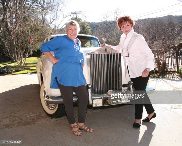 Helen Reddy and Marion Ross pose for a portrait on the set of the comedy Senior Entourage in Los Angeles, California on January 16, 2017.