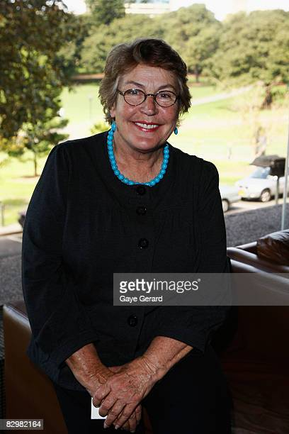 Helen Reddy poses during the Support Act Limited's 'Music in the House Luncheon' in the Strangers Dining Room at the NSW Parliament House on...