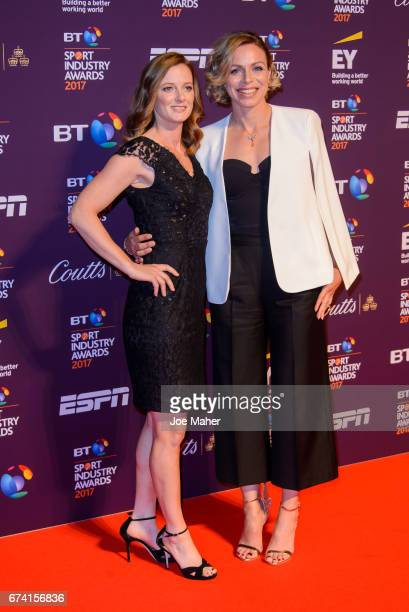 Helen RichardsonWalsh and Kate RichardsonWalsh attend the BT Sport Industry Awards at Battersea Evolution on April 27 2017 in London England